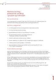 Mentorcoaching - professionel udvikling i grupper og individuelt