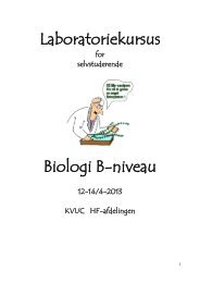 Laboratoriekursus Biologi B-niveau - KVUC