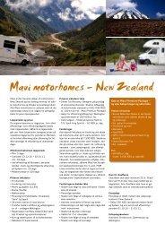 Maui motorhomes – New Zealand - FDM travel