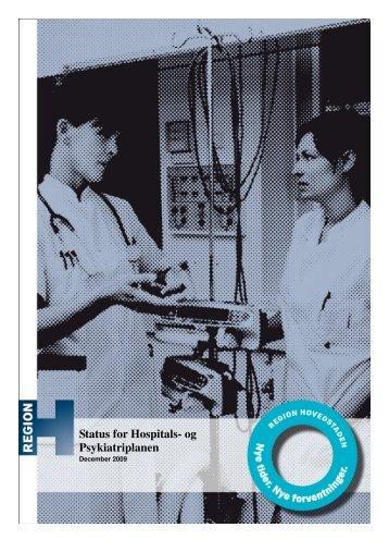 Status for Hospitals- og Psykiatriplanen - Hvidovre Hospital