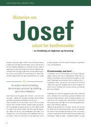 Historien om Josef udsat for konfirmander af ... - Kirken Underviser