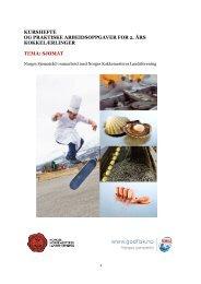 kurshefte og praktiske arbeidsoppgaver for 2. års kokkelærlinger ...