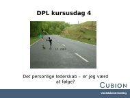 DPL kursusdag 4 - Cubion
