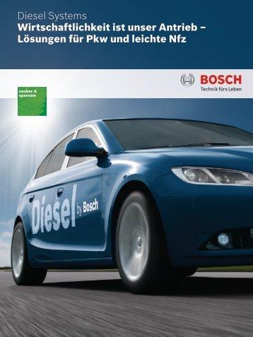 Wirtschaftlichkeit ist unser Antrieb - Bosch Automotive Technology