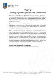 Udkast til fremtidig organisering af specialklasser.pdf - Ishøj Kommune