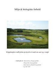 Miljø & biologiske forhold - Turfgrass