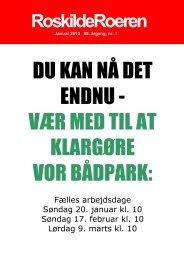 Læs Roeren fra januar 2013 - Roskilde Roklub