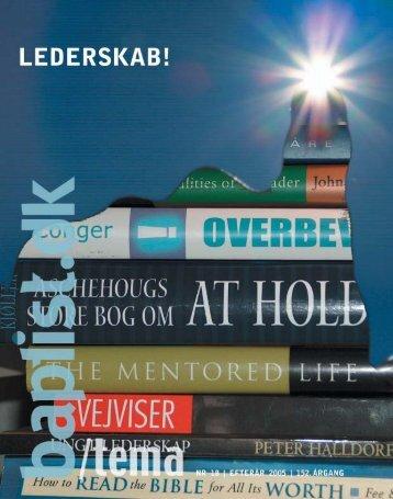 Nr. 18 efterår 2005 TEMA - Baptistkirken i Danmark