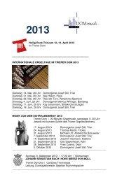 Übersicht 2013 im PDF-Format mit Vorschau 2014 - Trierer Orgelpunkt