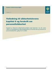 Veiledning til sikkerhetslovens kap6 og forskrift om ... - NSM