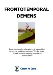 Download pjece om frontotemporal demens. - Center for døve