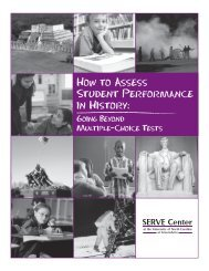 How to Assess Student Performance in History: Beyond - SERVE