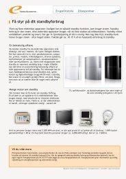 Få styr på dit standbyforbrug - Energitjenesten