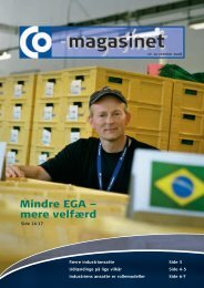 Mindre EGA – mere velfærd - CO-industri