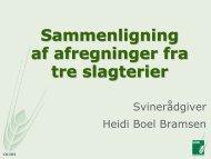 Hent Heidi Boel Bramsen indlæg - sammenligning af ... - LandboSyd