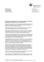 Afgørelse om ophævelse af godkendelse til ... - Miljøstyrelsen