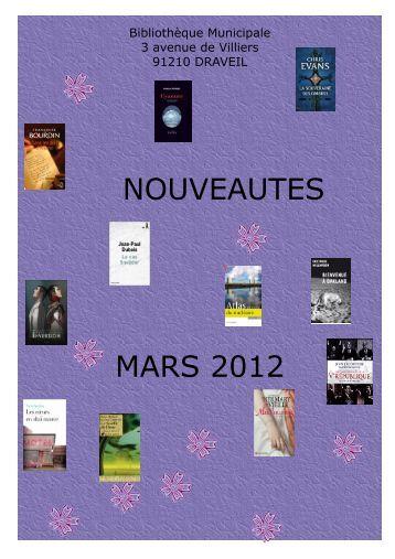 NOUVEAUTES MARS 2012 - Draveil