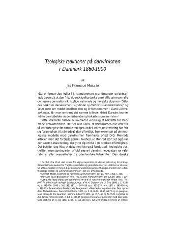 Teologiske reaktioner på darwinismen i ... - Historisk Tidsskrift