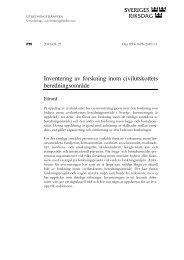 Inventering av forskning inom civilutskottets ... - Riksdagen
