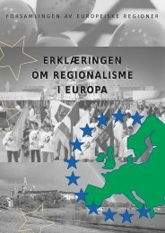 erklæringen om regionalisme i europa - Assembly of European ...