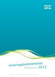 Leveringsbestemmelser - SYD ENERGI Net A/S - SE