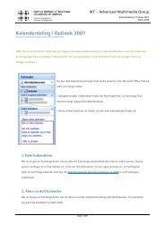 Kalenderdeling i Outlook 2007