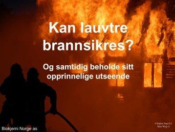 Brannhemmende Produkter redder liv og eiendeler - Foreningen ...