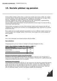 Politikområde 13. Sociale ydelser og pension