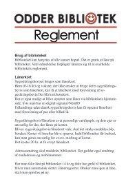 reglement 2013-januar.indd - Odder Bibliotek