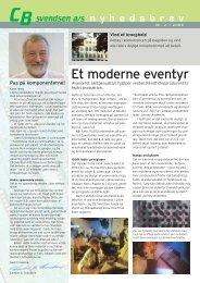Nyhedsbrev nr. 2 / 2004 - CB Svendsen A/S