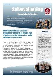 Selvevaluering - Sydvestjyllands Efterskole
