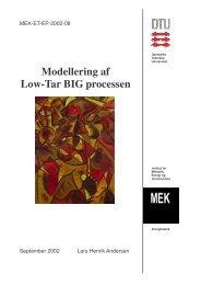 Modellering af low-tar BIG processen