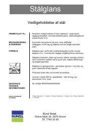 Vedligeholdelse af stål