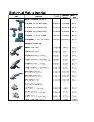 Elektriniai Makita įrankiai - Vilmista