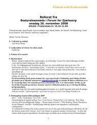 Forum for Sjælesorg Referat fra