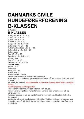 B-KLASSEN - Danmarks civile Hundeførerforening – Randers