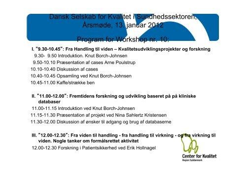 Præsentation 2 - DSKS - Dansk Selskab for Kvalitet i ...