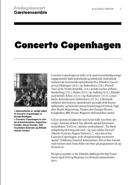 DR VokalEnsemblet Concerto Copenhagen Fredagskoncert 1. maj ...
