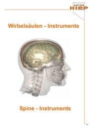 Wirbelsäulen - Instrumente Spine - Instruments - Anton Hipp