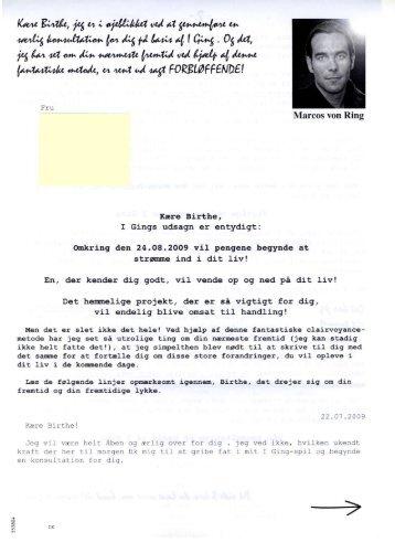 et helt identisk brev - Forbrugerbloggen.dk