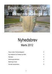 Marts 2012 - Bevaringsforeningen for Præstø og omegn