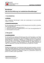 Richtlinien über die Durchführung von realistischen ... - GVZ