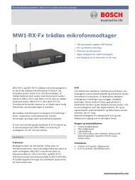 MW1-RX-Fx trådløs mikrofonmodtager - Bosch Security Systems