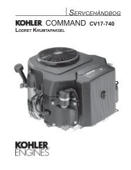 COMMAND CV17-740 - Kohler Engines