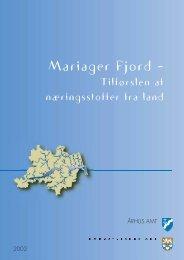 tilførsel af næringssalte fra land, februar 2002 - Mariager Fjord