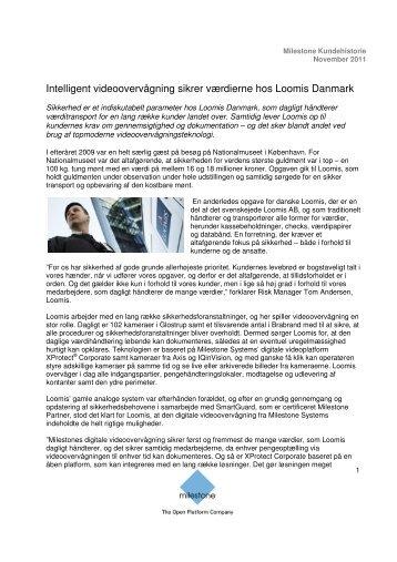 Intelligent videoovervågning sikrer værdierne hos ... - Milestone