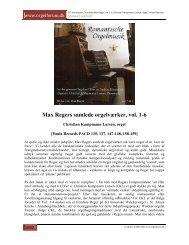 Max Regers samlede orgelværker, vol. 1-6 - Orgelforum.dk