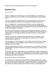 Boykotter Kairo - tomasevski.net