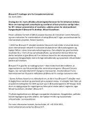 Øresund IT modtager pris fra Europakommissionen ... - Øresund Org