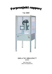 Vår 2005 ISEL-CNC-MILLING™